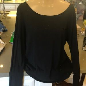 Alice and Olivia Air cotton/flax blend top.